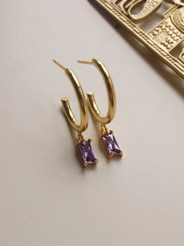 ILLUMINATE Hoops - Royal Purple *18K Gold-plated