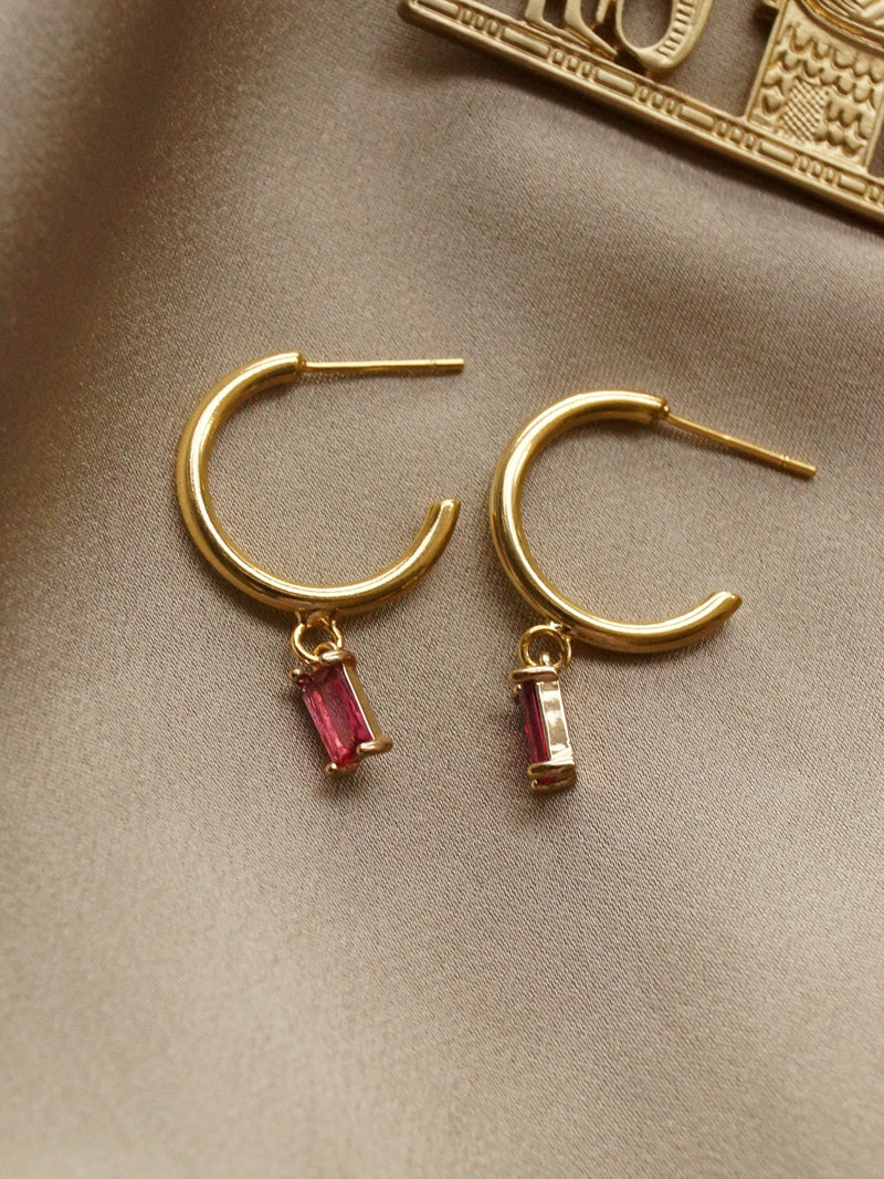 ILLUMINATE Hoops - Rose Pink *18K Gold-plated