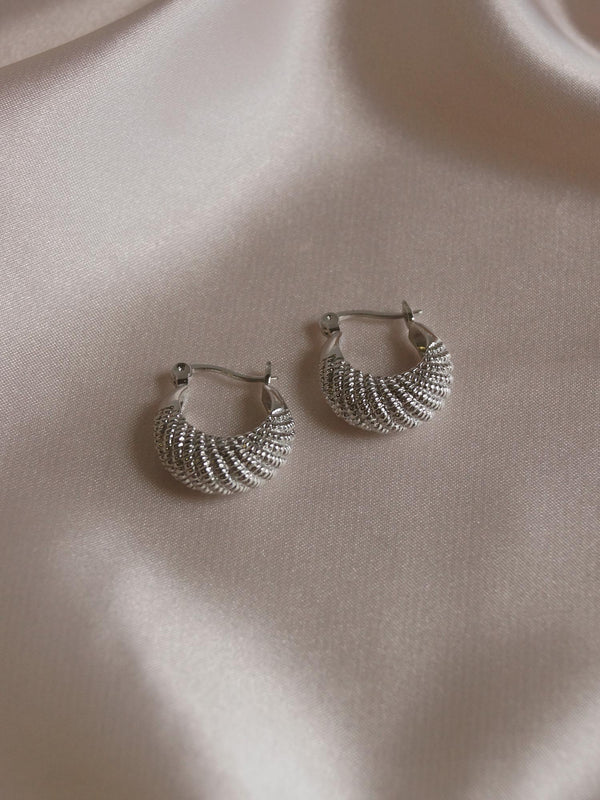 INDIA Hoops - Silver *Platinum-plated