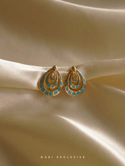 IREN Earrings - Turqoise *Gold-plated // GABI EXCLUSIVE