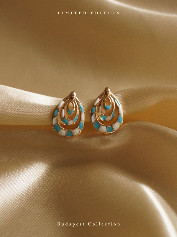 IREN Earrings - Turqoise & White *Gold-plated // GABI EXCLUSIVE