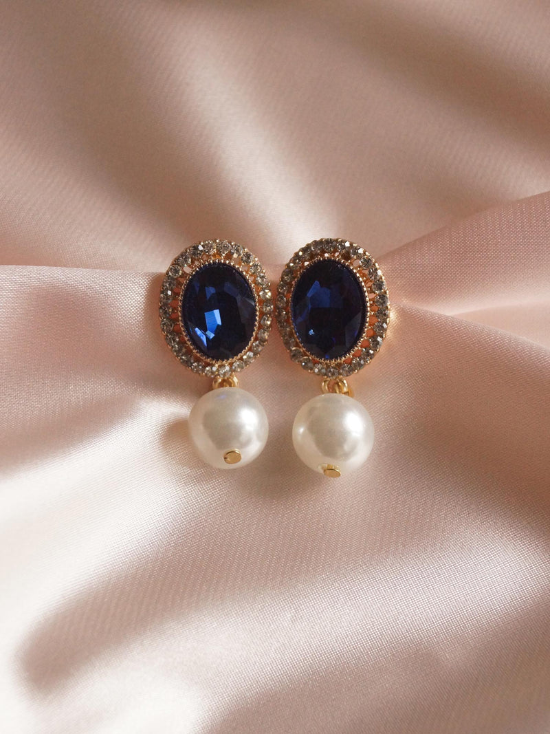 ISOBEL Earrings - Midnight Blue
