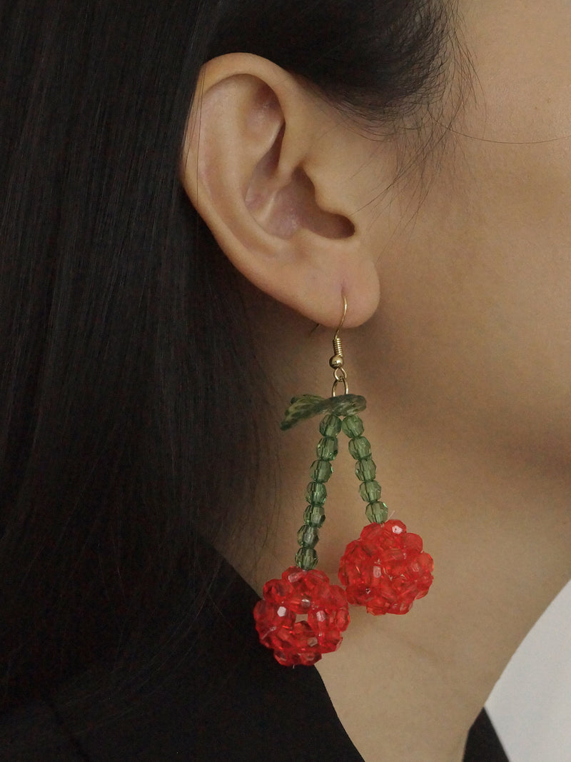 Kālai Cherry Drop Earrings