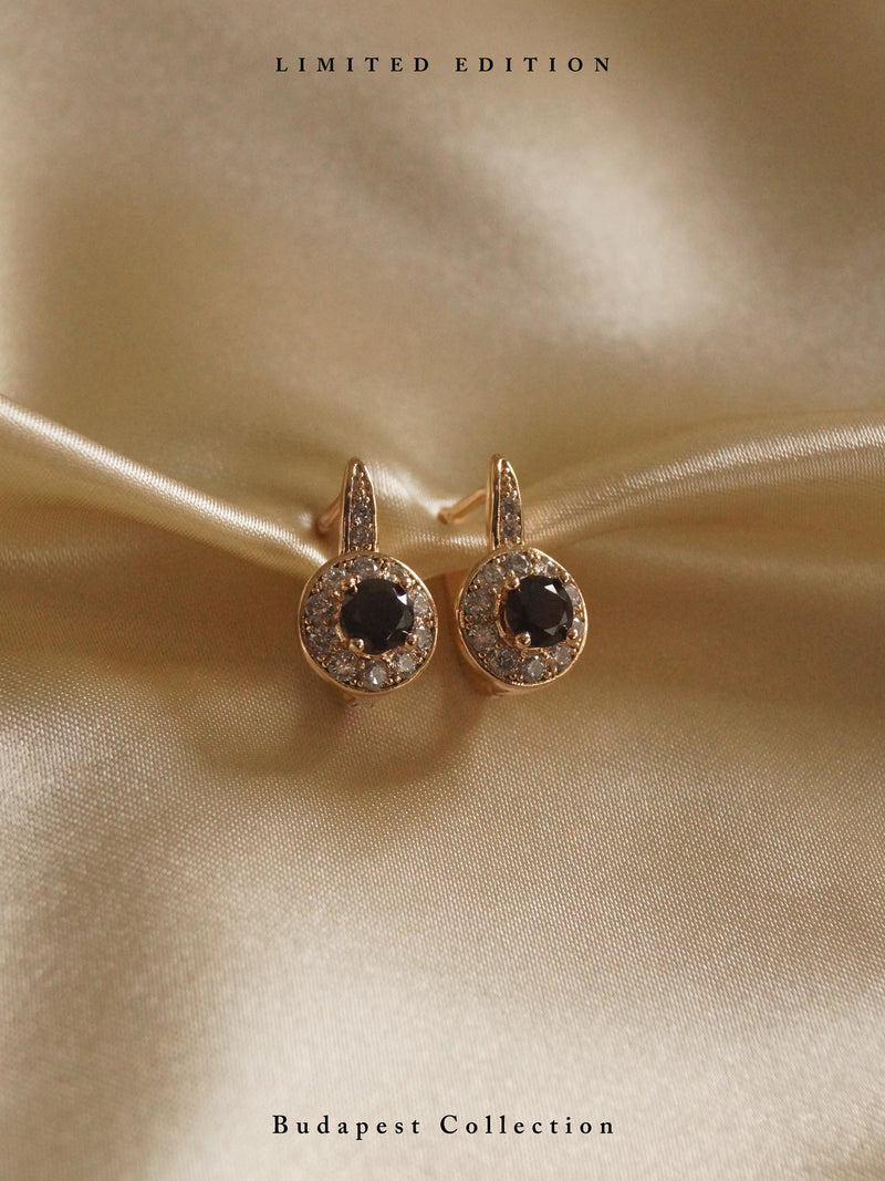 KATA Earrings - Black Orb *Gold-plated // GABI EXCLUSIVE