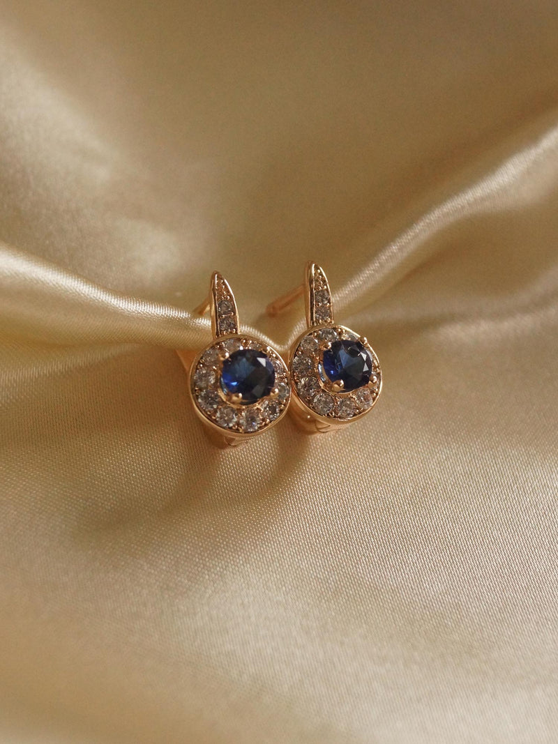 KATA Earrings - Dark Blue *Gold-plated // GABI EXCLUSIVE