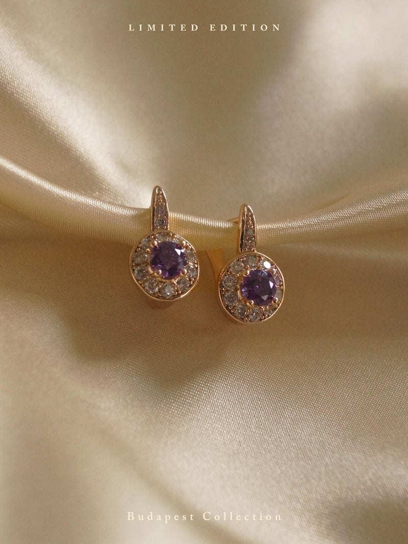 KATA Earrings - Amethyst Purple *Gold-plated // GABI EXCLUSIVE