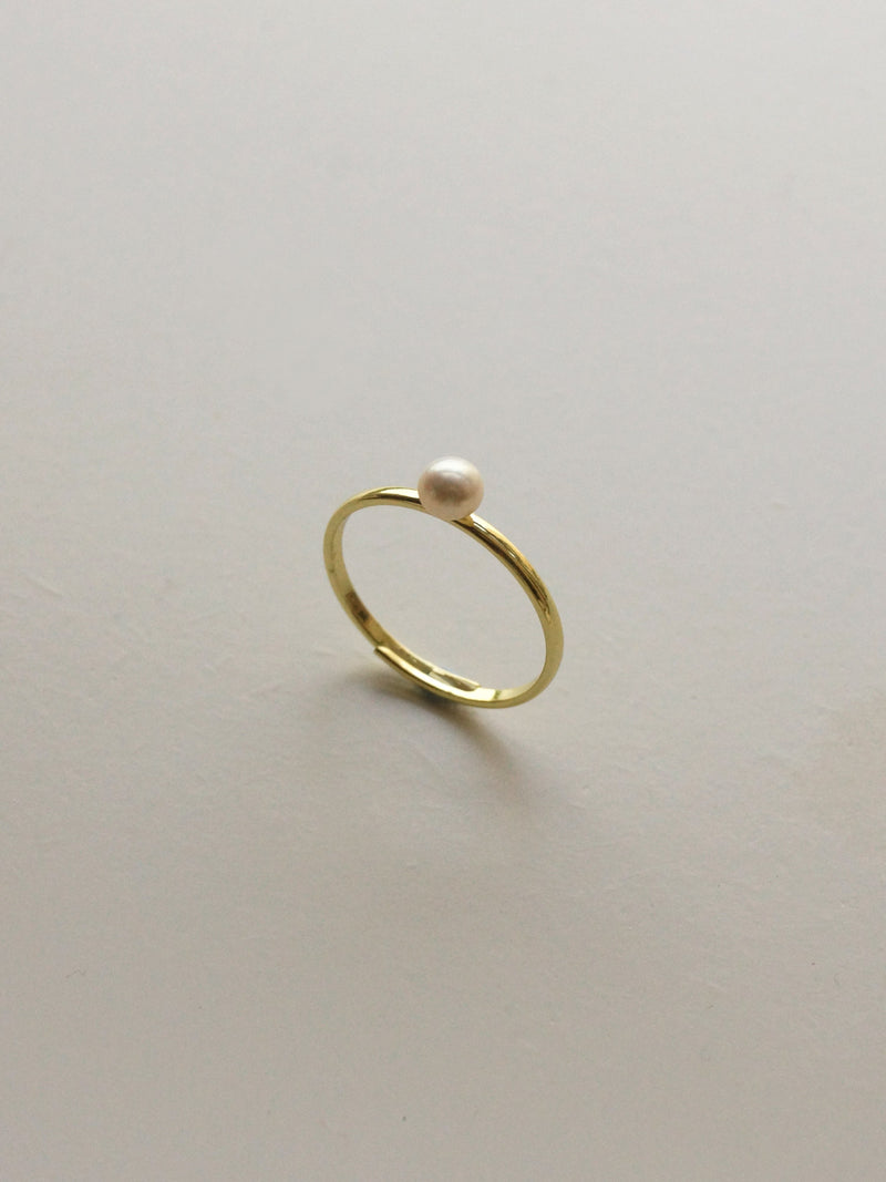 Pearl Ring - Little Pearl *14k Gold-plated S925