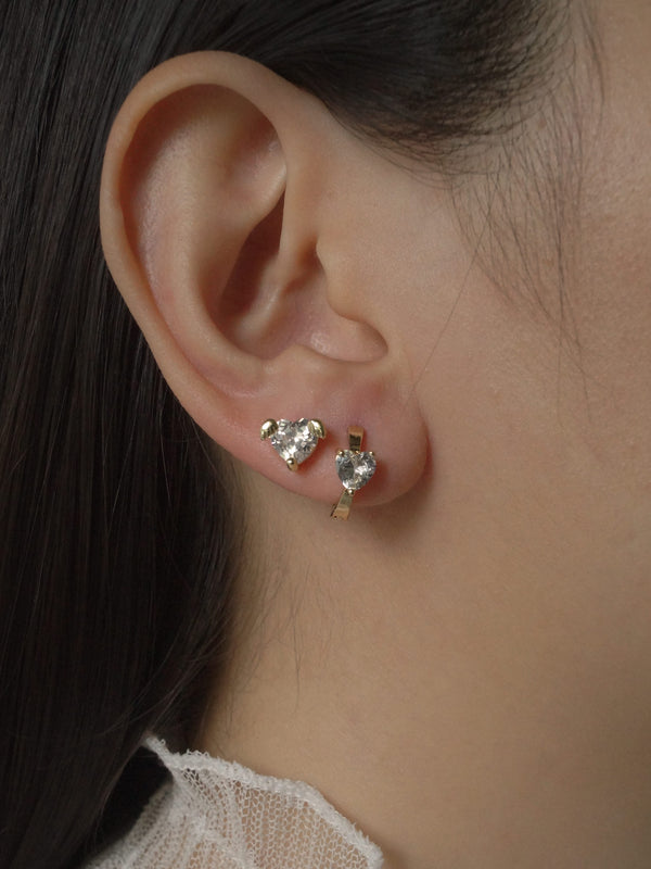 LOVE Earstuds - Clear *Gold-plated