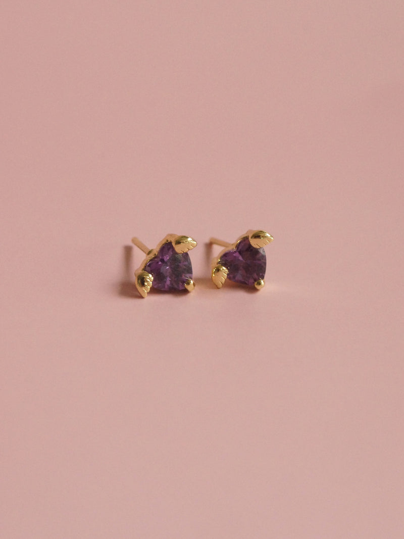 LOVE Earstuds - Purple *Gold-plated