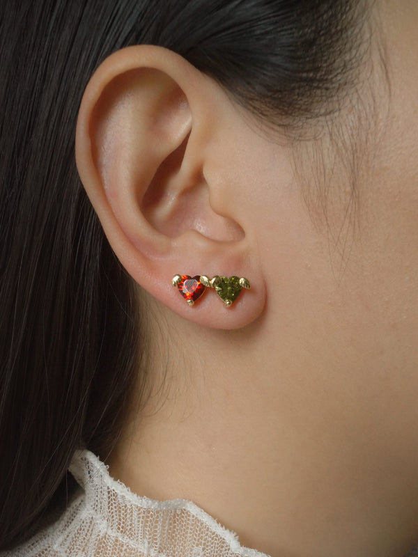 LOVE Earstuds - Green *Gold-plated