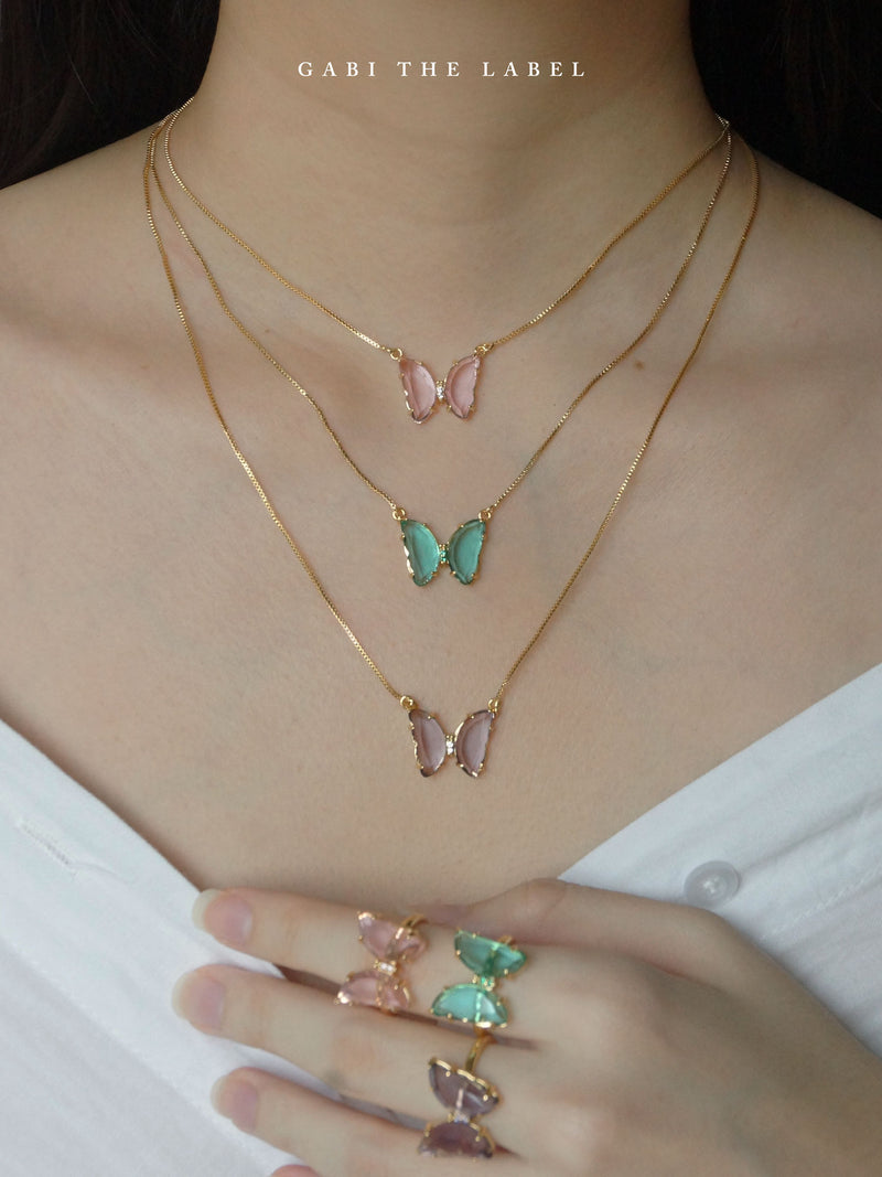 LOVEDAY Necklace - Seafoam Green *Gold-plated