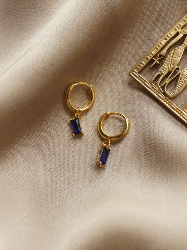MIRAGE Huggies - Royal Blue *18K Gold-plated