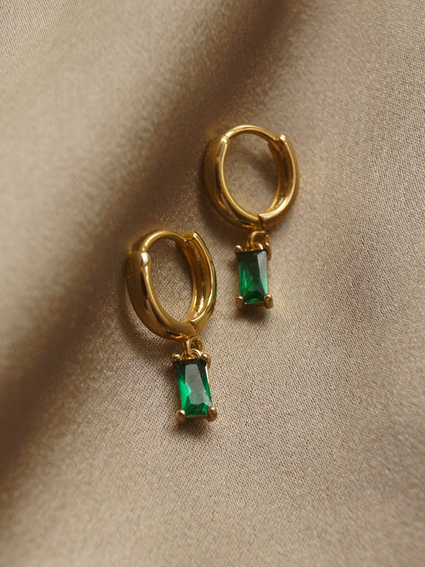 MIRAGE Huggies - Emerald Green *18K Gold-plated