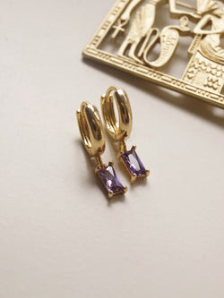 MIRAGE Huggies - Royal Purple *18K Gold-plated