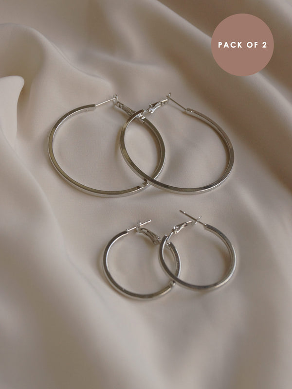 MLATHI Hoops (Set of 2) - Silver