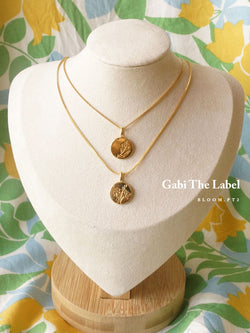Peony Pendant Necklace *18K Gold-plated