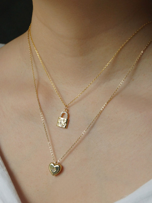 Secret Lock Necklace *18K Gold-plated