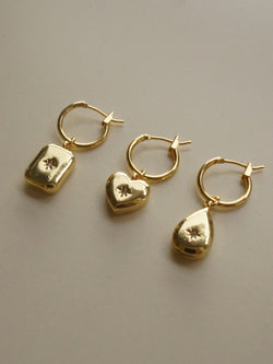Nova Huggies - Heart *18K Gold-plated
