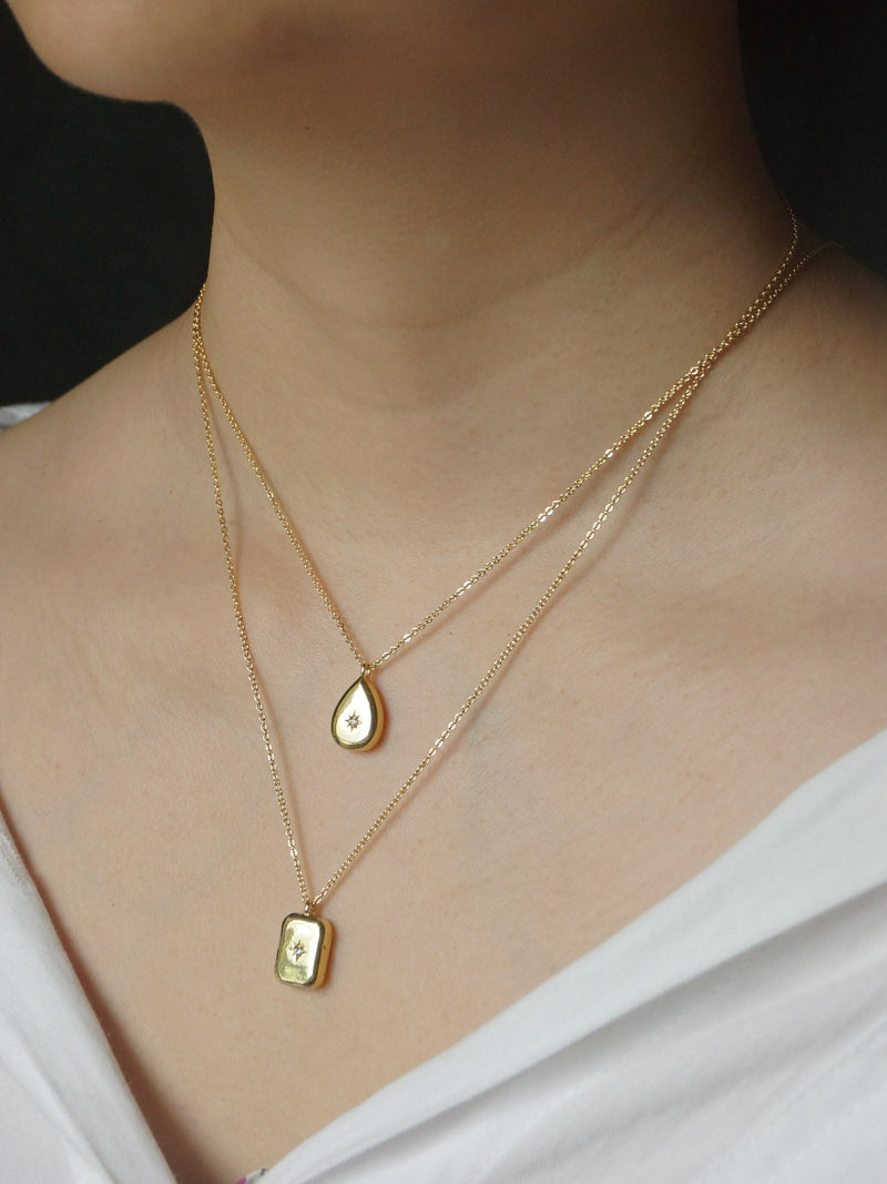 Nova Necklace - Rectangle *14K Gold-plated