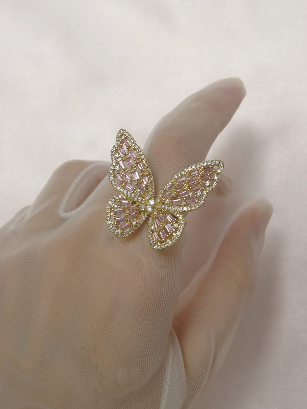 OAHU Ring - Gold/Pink *Gold-plated