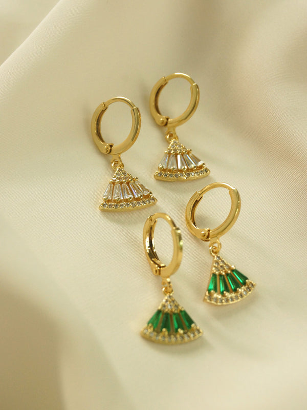 Origami Earrings - Clear *18K Gold-plated