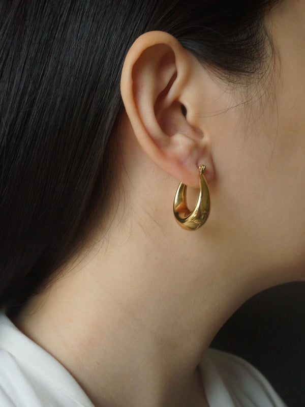 Oval Chunky Hoops *18k Gold-plated