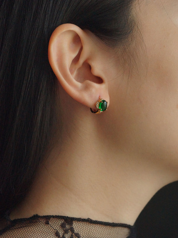 Agota Earrings - Jade Green *Gold-plated // GABI EXCLUSIVE
