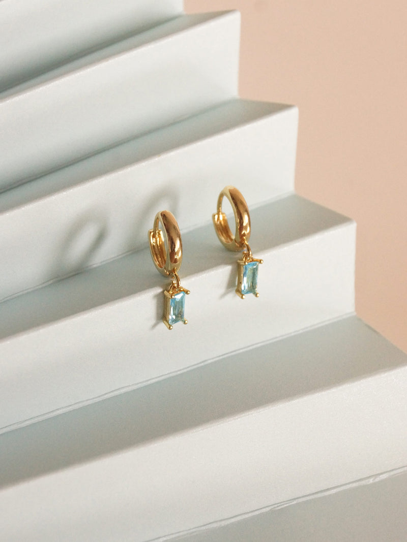 REVERIE Huggies - Aqua *18K Gold-plated