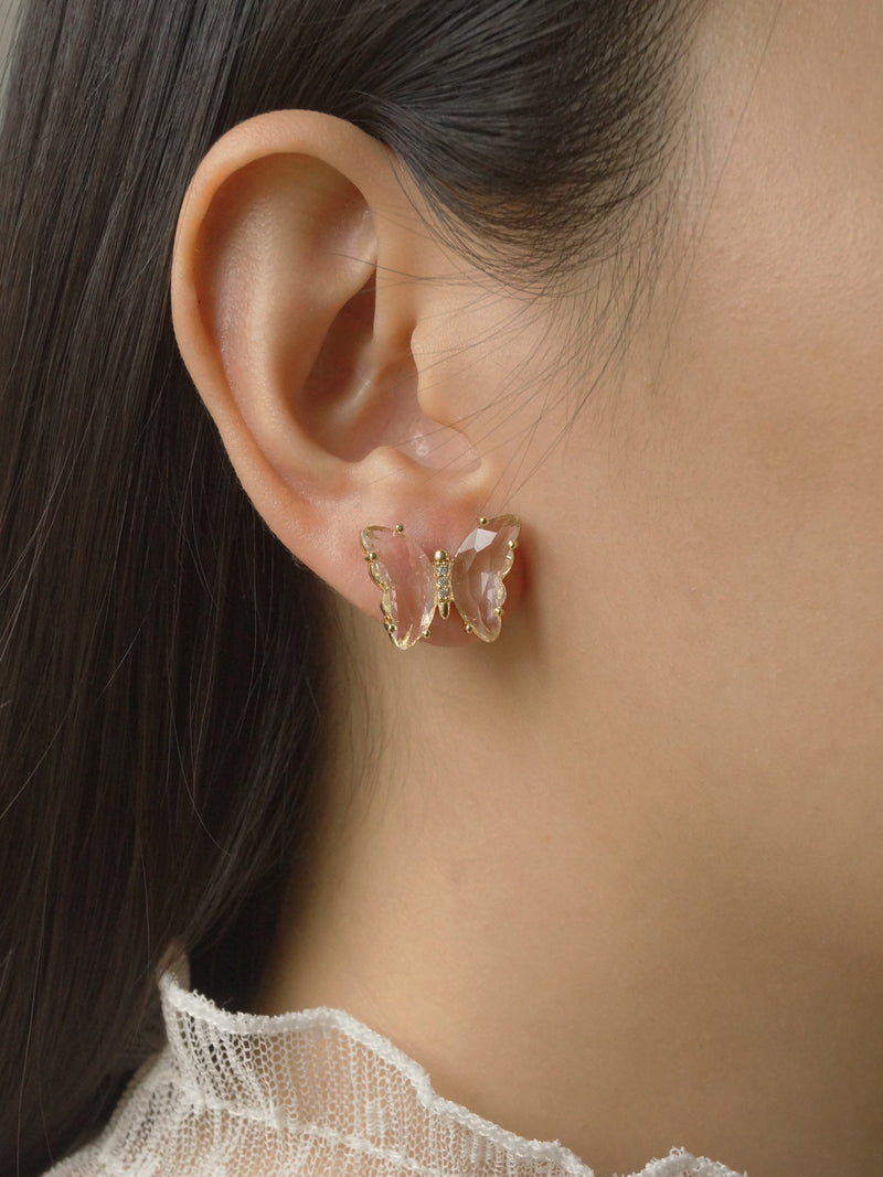 RIKA Earstuds - Clear *S925 Earposts