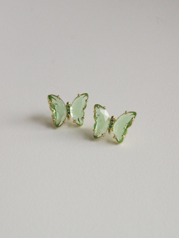 RIKA Earstuds - Green *S925 Earposts