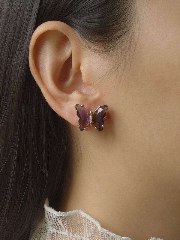 RIKA Earstuds - Purple *S925 Earposts
