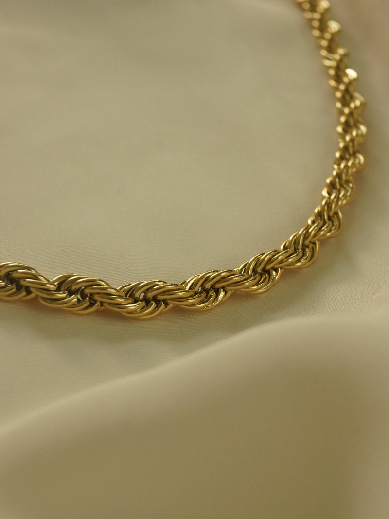 Rope Necklace - Chunky *18K Gold-plated Stainless Steel