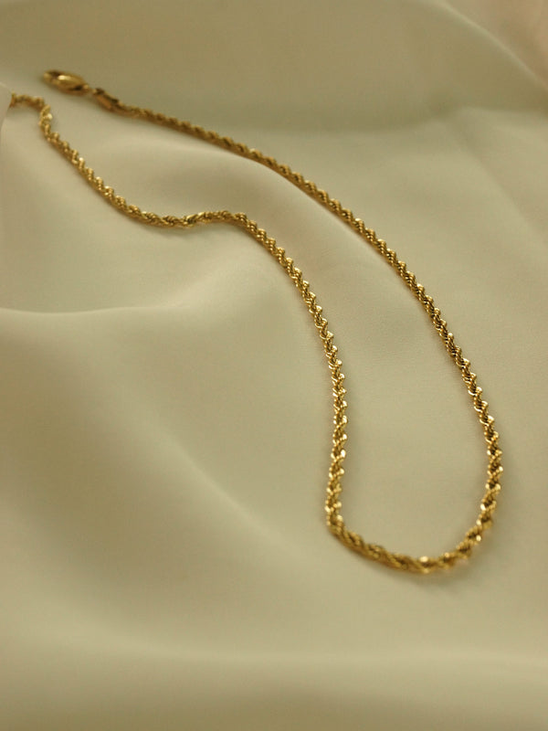 Rope Necklace - Thin *18K Gold-plated Stainless Steel