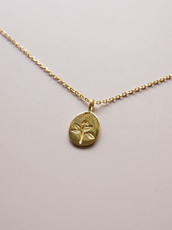Rose Pendant Necklace *18K Gold-plated S925