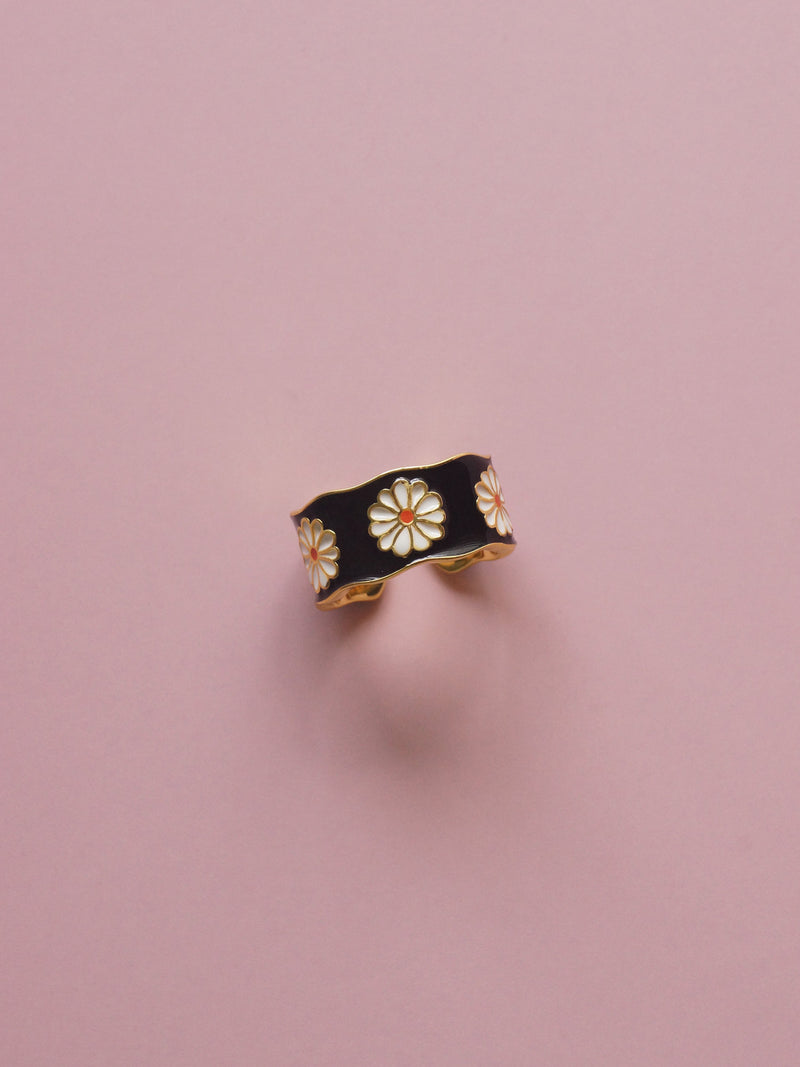 SAORI Ring - Black *Gold-plated S925