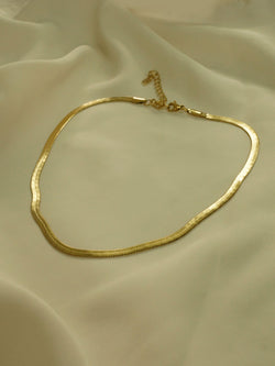 Snake Chain Necklace *18K Gold-plated Stainless Steel