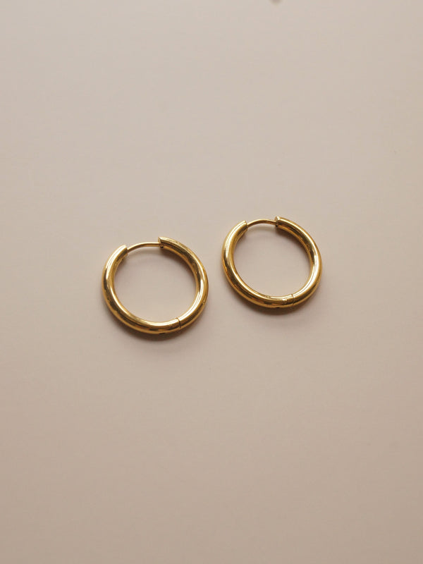 Stainless Steel Essential Hoops - Gold *18k Gold-plated