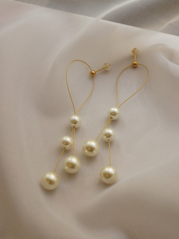 SUYIN Pearl Earrings *Gold-plated (GABI PREMIUM)