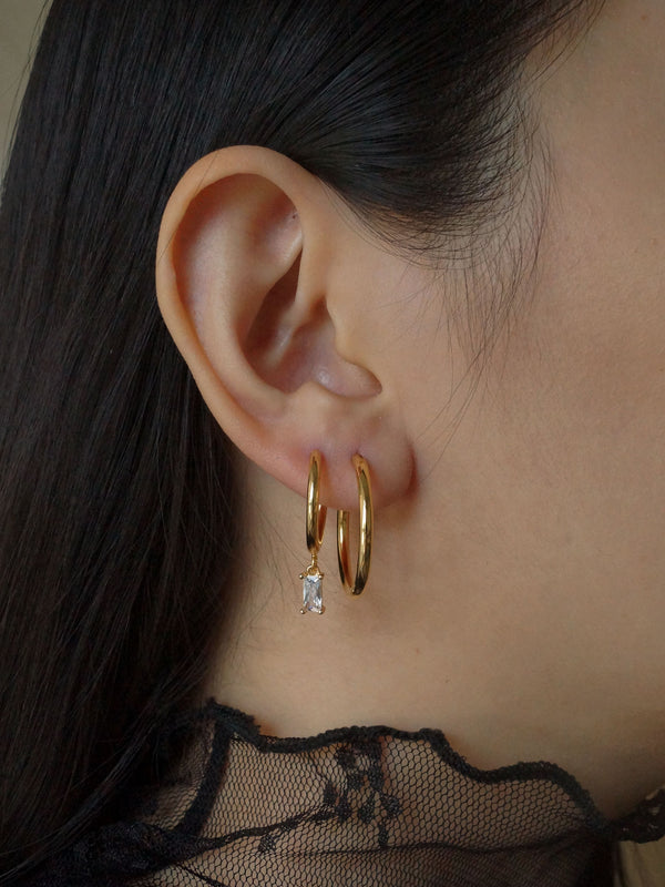 Essential Thin Hoops - Small *18K Gold-plated S925