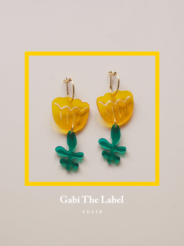 Tulip Dangles - Canary Yellow