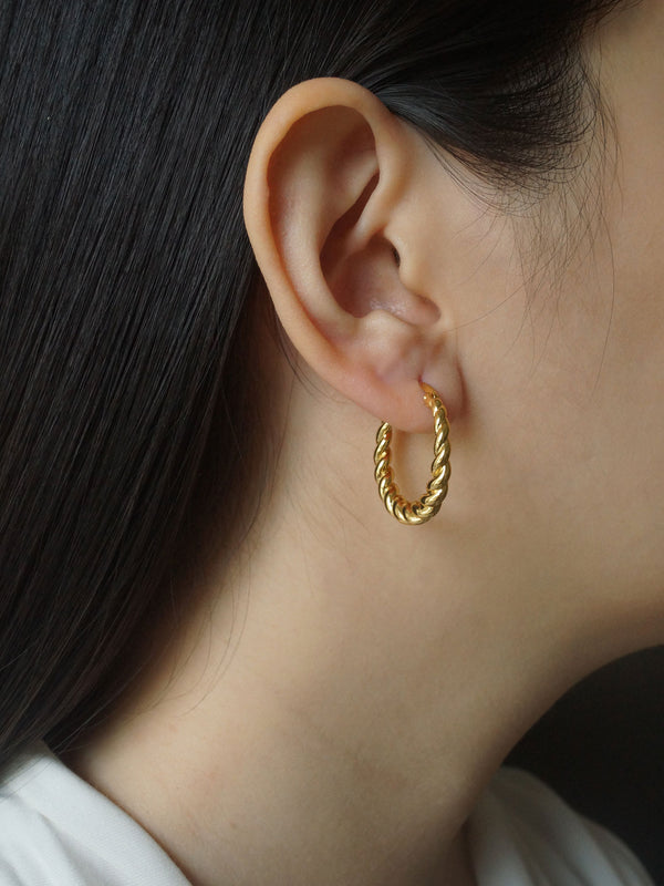 Twist Hoops *18k Gold-plated