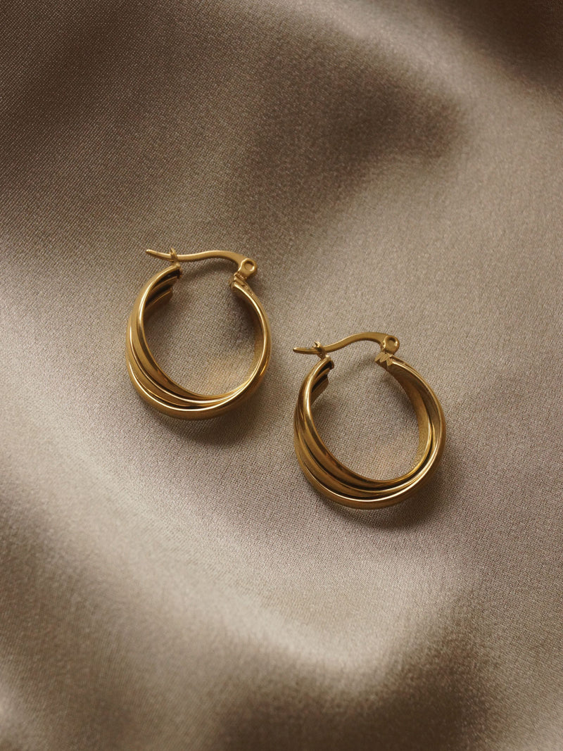 Vintage Hoops *18k Gold-plated