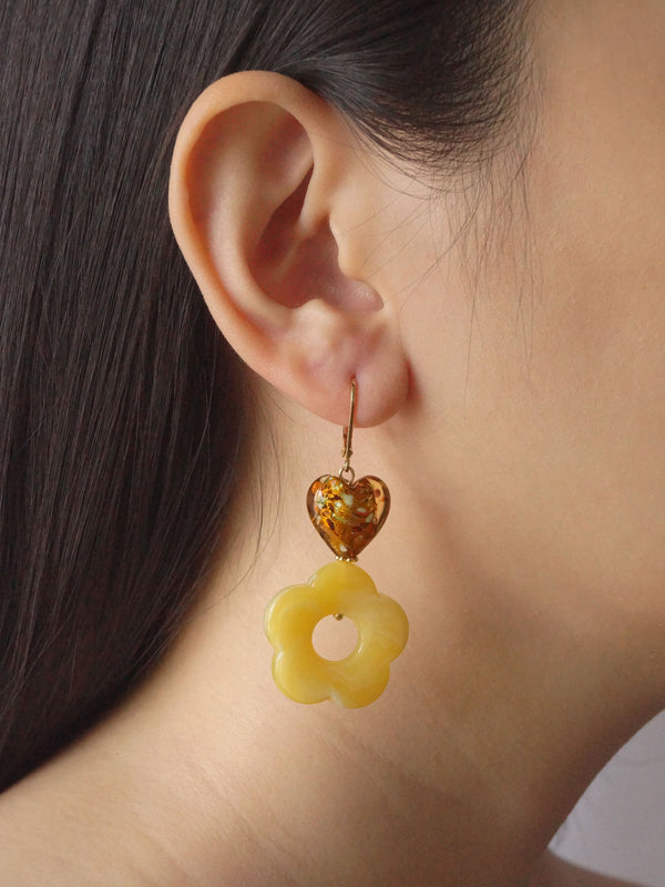 Mosaic Buttercup Earrings *18K Gold-plated