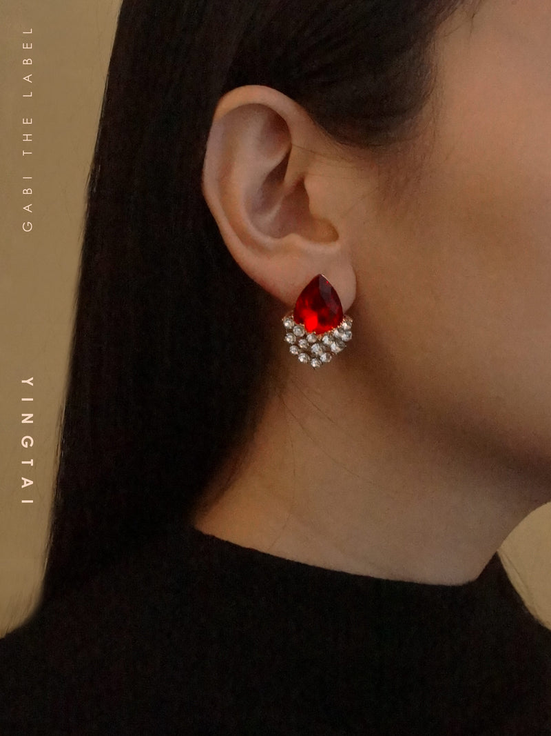 YINGTAI Earrings - Garnet