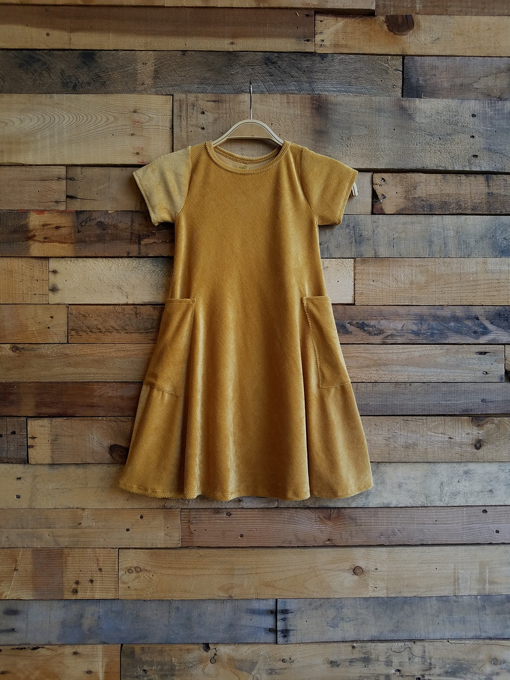 Dallas Swing Dress SAMPLE - Soft Mustard