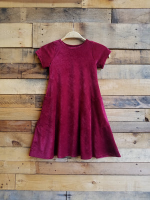 Dallas Swing Dress SAMPLE - Wine