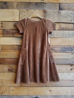 Dallas Swing Dress SAMPLE - Camel