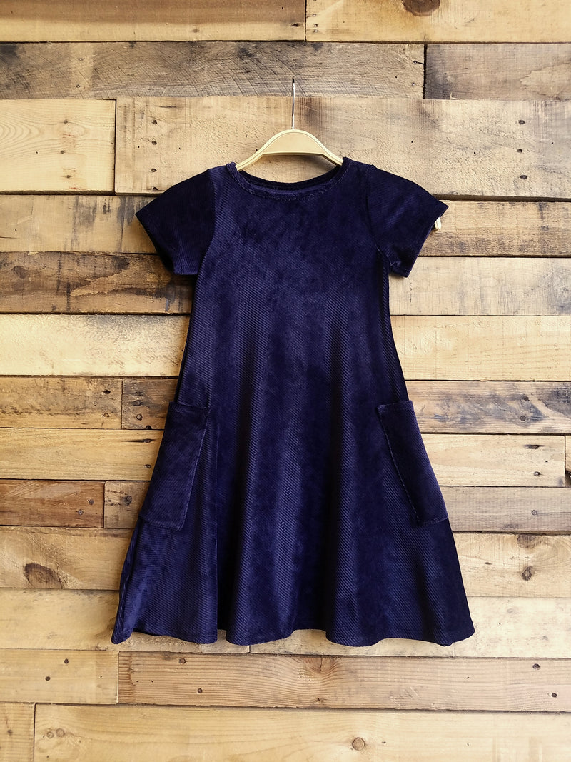 Dallas Swing Dress SAMPLE- Navy