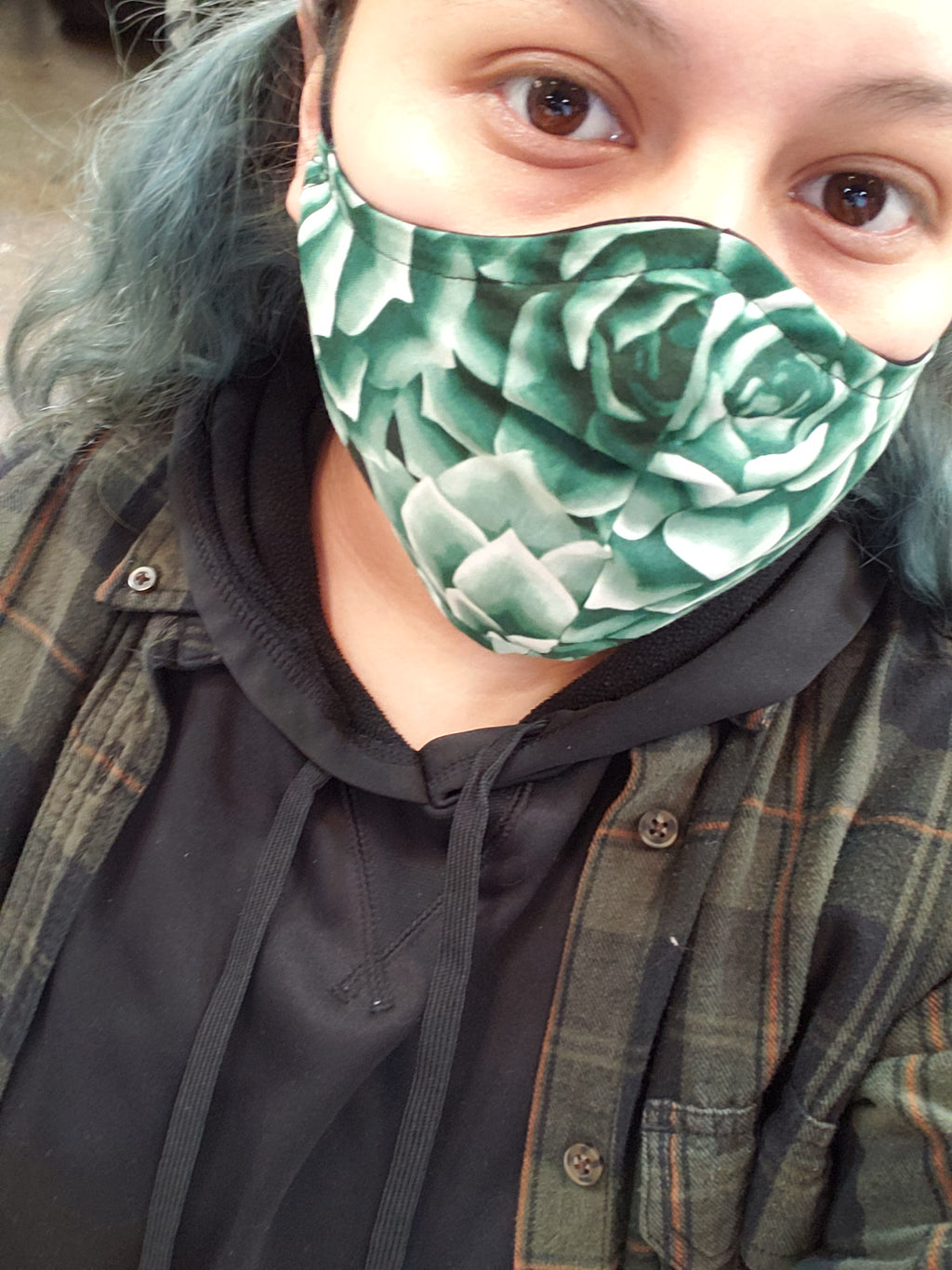 Succulents Handmade Fashion Face Mask (not a protective mask)