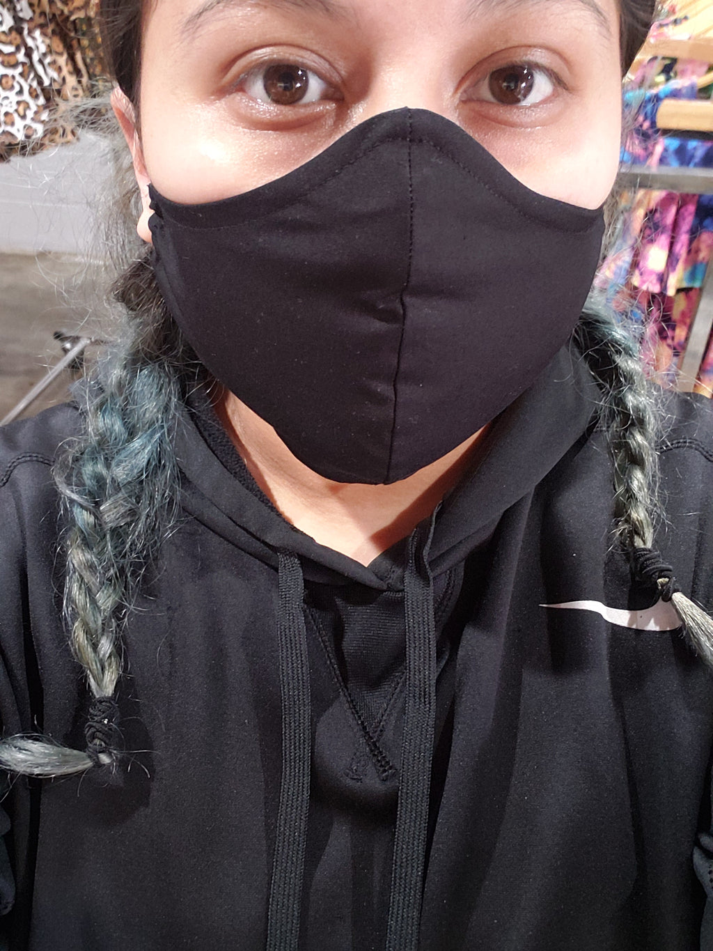 Raven Black Handmade Fashion Face Mask (not a protective mask)